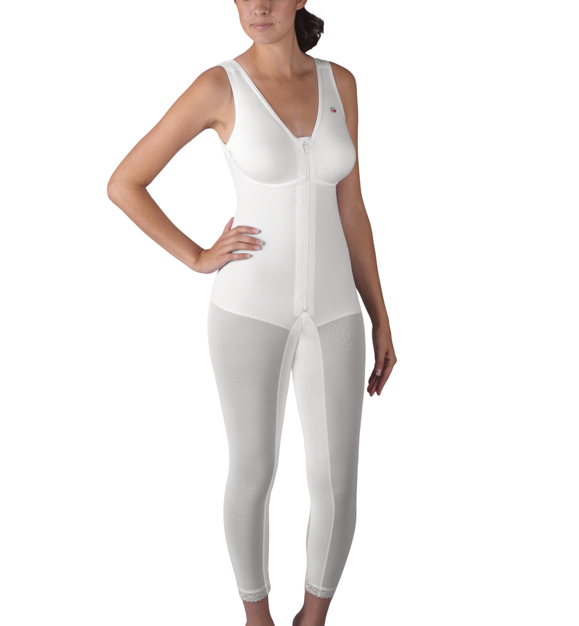f6d8ee79ae117 Zippered Below-Knee Molded Buttocks High-Back Girdle with Bra ...